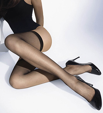 Wolford Twenties Fishnet Stay Ups