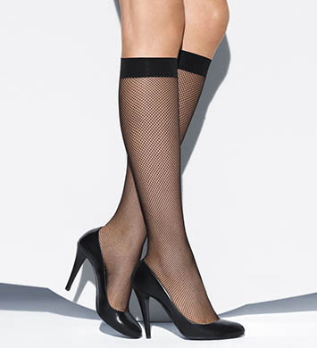 Wolford Twenties Fishnet Knee Highs