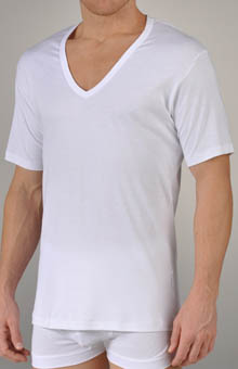 Sea Island V-Neck Short Sleeve T-Shirt