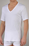 Zimmerli Sea Island V-Neck Short Sleeve T-Shirt 2861391