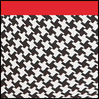 Houndstooth Print/Red