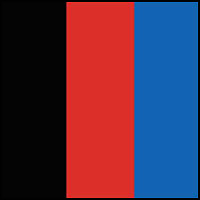 Black/Red/Royal Blue