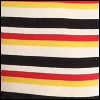 Cream Stripe/Black/Red