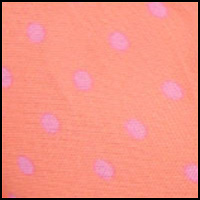 Coral Stripe/Pink Dot