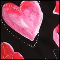 Black Hearts Print