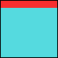 Bright Aqua/Hot Red