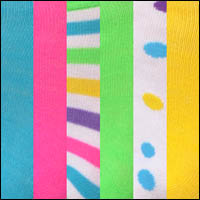 Neon w/stripe & dot
