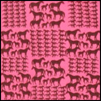 Vivid Pink Horses