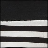 Black/Just Nude Stripe