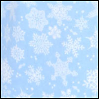 Blue/White Snowflake