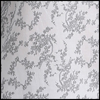 Grey Floral Toile