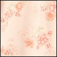 Peach Floral Paisley