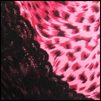 Pink Animal Black Lace