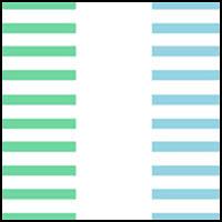 Green/White/Turquoise
