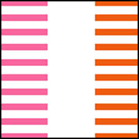 Pink/White/Orange