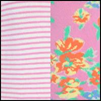 Pink Leaves/Stripe