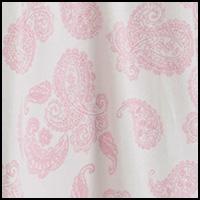 Ivory/Pink Paisley