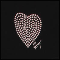 Dotted Heart Black