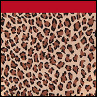 Leopard/Parisian Red