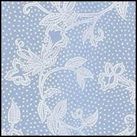 Blue Ground w/White