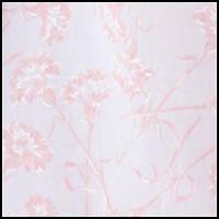 White w/Apricot Floral