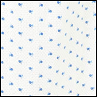 White/Blue Leaf & Dot
