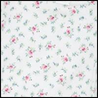 White w/ Multi Floral
