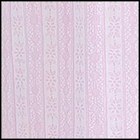 White Pink Lace Print