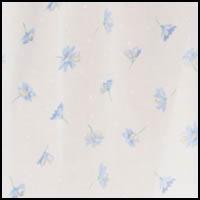 White/Blue Daisy Print