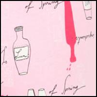 Pink Bottle Print