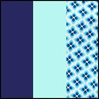 Blue/Flower/Blue