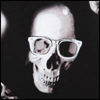 Skull Glasses Blue