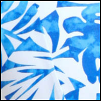Blue/White Batik Leaf