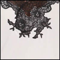 ivory w/black lace