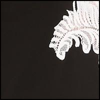 Black w/White Lace