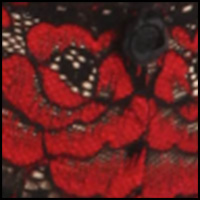 Black/Red Floral
