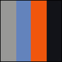 Orange/Blue Navy/Gray