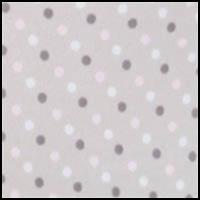 Grey & Pink Dot Print