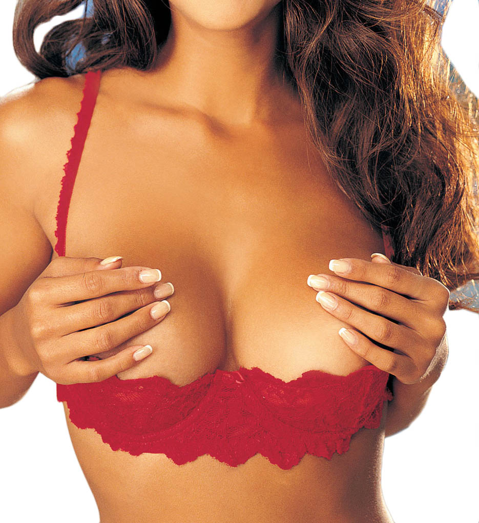 0f471a6ed0ad1 Shirley of Hollywood 324 Chopper Lace Shelf Bra (Red)