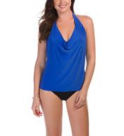MagicSuit Solid Sophie Halter Tankini Swim Top 367615