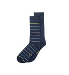 2 Pack Stripe and Solid Socks
