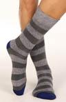 Hybrid Stripe Crew Sock
