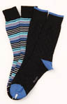 Multi Stripe Crew Sock - 2 Pack