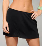 Solid Swim Skirt with High Waisted Bottom