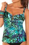 Butterfly Underwire Tankini Swim Top