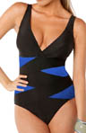 Crisscross D Cup Underwire One Piece Swimsuit