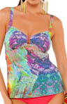 Parrot Fish Over the Shoulder Tankini Swim Top