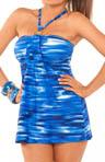 Strobe Tummy Control Swim Dress