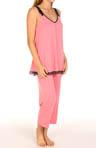 Sleeveless Cropped PJ Set with Soft Inside Bra