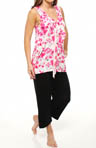 Cascades in Bloom Cropped PJ with Soft Bra